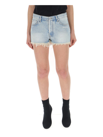 Off-White Frayed Hem Shorts