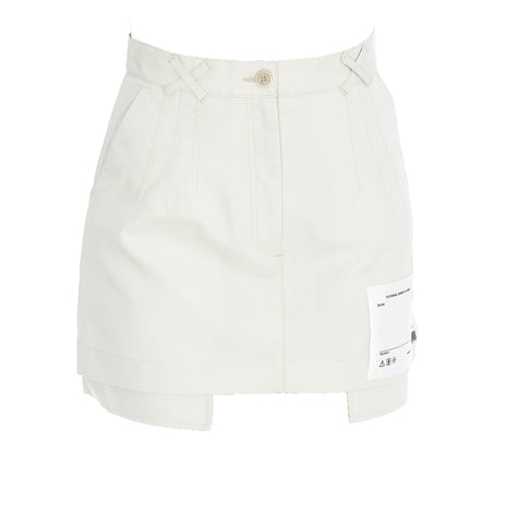Off-White Logo Patch Mini Skirt
