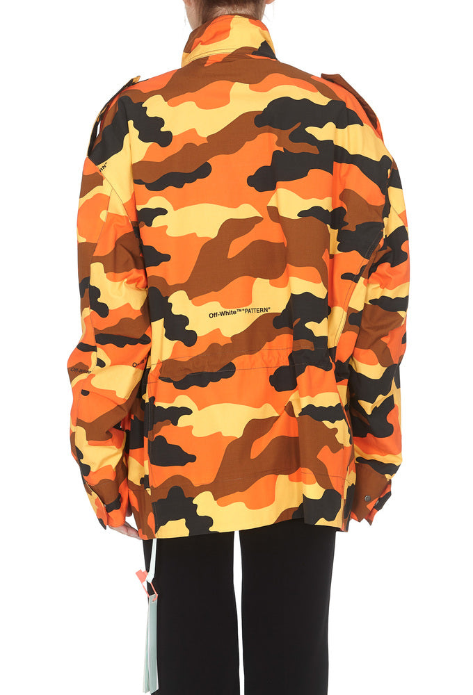 2d9334d9830d7 Off-White Camouflage Printed Padded Jacket – Cettire