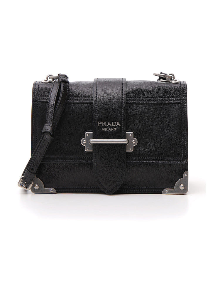 This black patent leather Cahier Micro Box bag by Prada is literary  inspired minaudière that will add bookish charm to any evening ensemble. e006964d286b9