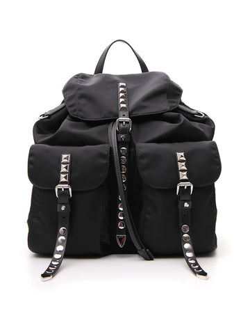 Prada Embellished Studded Backpack