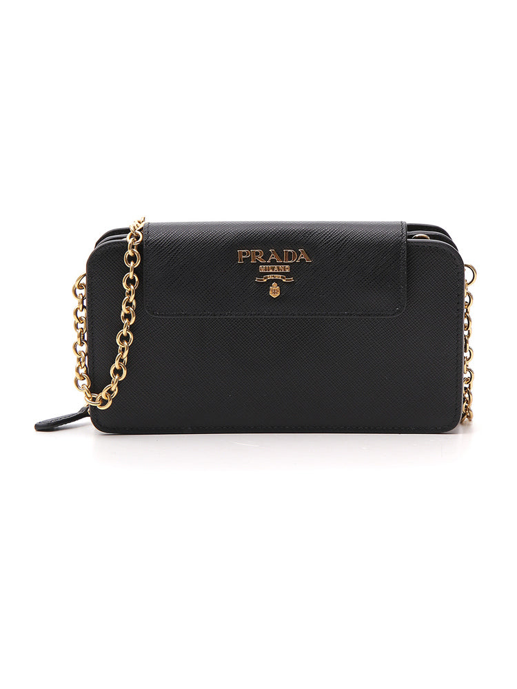 9952498403bc ... germany prada saffiano zip clutch bag in black d0dad 186d2