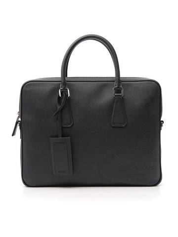 Prada Top-Handle Laptop Bag
