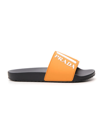Prada Logo Pool Slides