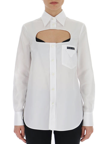 Prada Cut-Out Button-Up Shirt