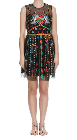 Red Valentino Love Celebration Mini Dress