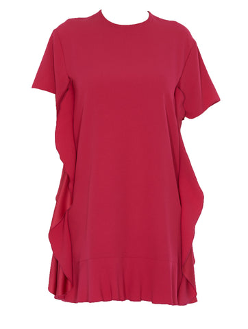 Red Valentino Frill-Detail Shift Dress