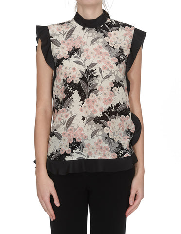 Red Valentino Floral Print Top