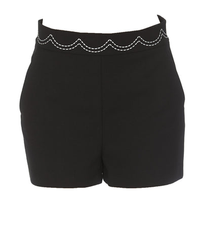 Red Valentino Contrast Stitch Shorts