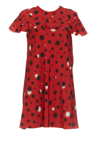 Red Valentino Star Print Mini Dress