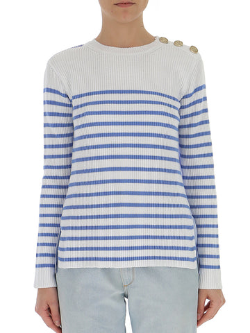 Red Valentino Contrasting Striped Sweater