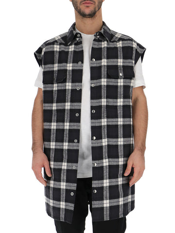 Rick Owens Sleeveless Check Shirt