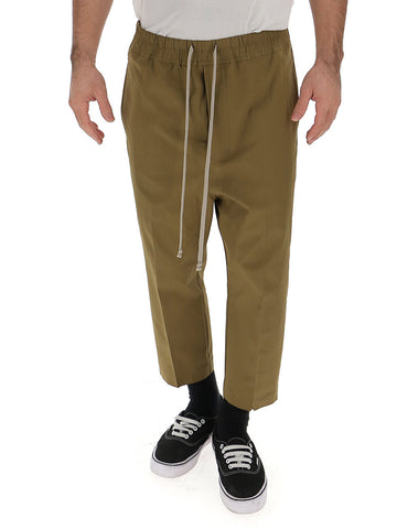 Rick Owens Cropped Drawstring Trousers