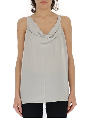 Rick Owens Sleeveless Draped Neckline Blouse