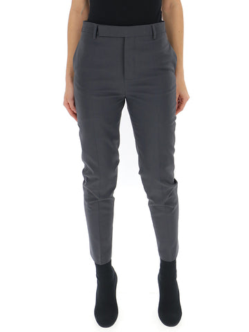 Rick Owens Slim Fit Cropped Trousers