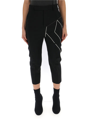 Rick Owens Embroidered Cropped Trousers