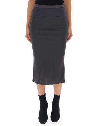 Rick Owens Fluted High Waist Skirt