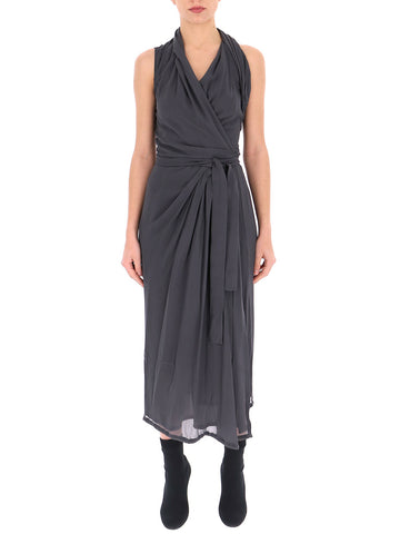 Rick Owens Pleated Halter Neck Dress