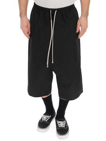 Rick Owens Geometric Long Drawstring Shorts