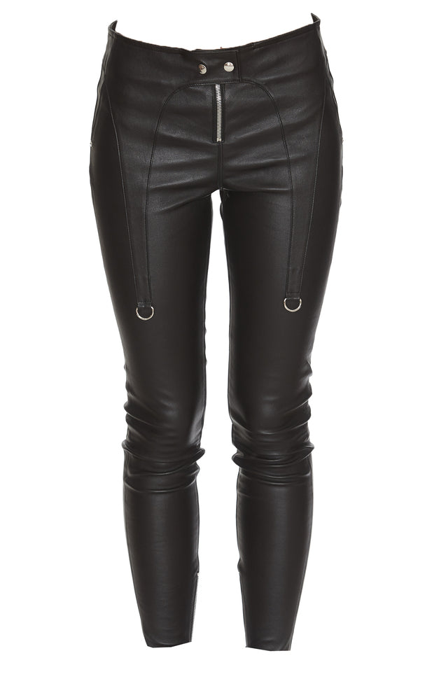 Rta Garter Skinny Leg Pants In Black