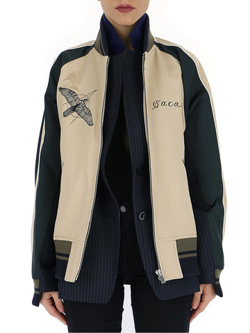 Sacai Hawk Embroidered Bomber Jacket