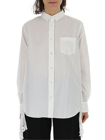 Sacai Back Sheer Pleated Shirt