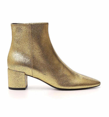 Saint Laurent Textured Glitter Boots