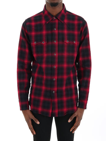 Saint Laurent Checkered Shirt
