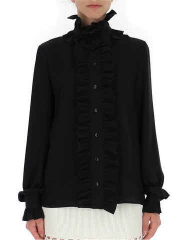 Saint Laurent Ruffle Trim Shirt