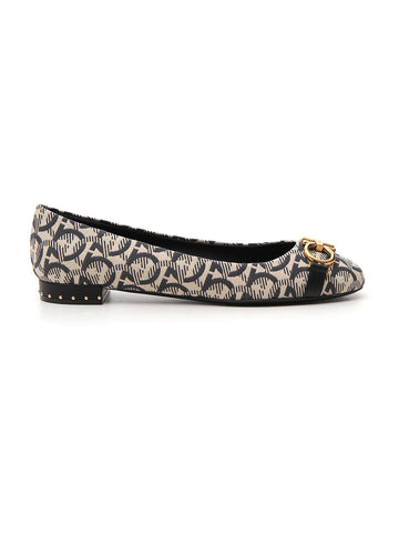 Salvatore Ferragamo All Over Logo Ballerina Flats