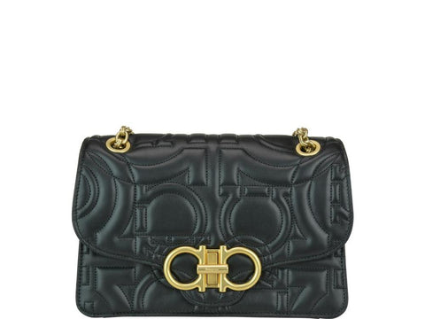 Salvatore Ferragamo Gancini Quilted Shoulder Bag