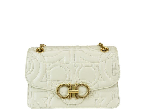 Salvatore Ferragamo Quilted Gancini Crossbody Bag