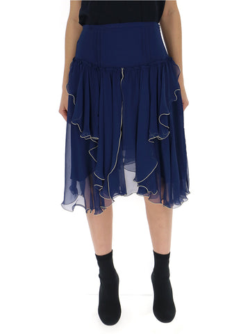 See By Chloé Gathered Asymmetric Skirt