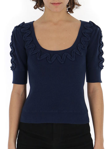 See By Chloé Scoop Neck Knit Top