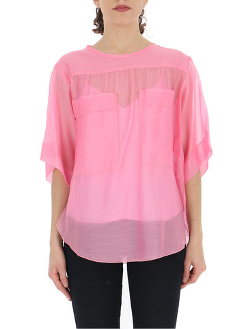 See By Chloé Sheer-Detail Blouse