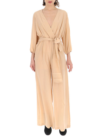 Semi Couture Draped Belted Jumpsuit