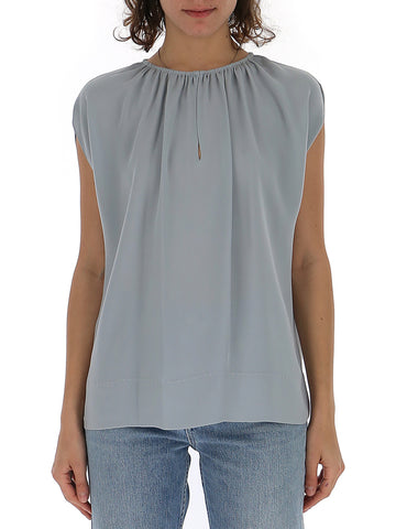 Theory Gathered Neckline Sleeveless Top