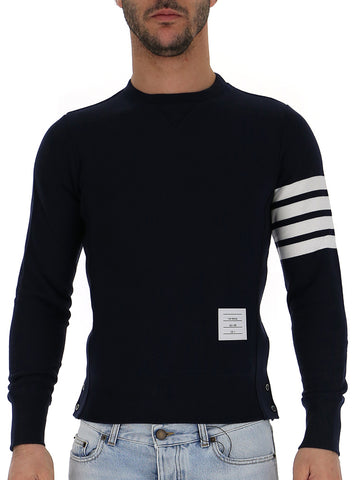 Thom Browne Four Bar Stripe Sleeve Sweater