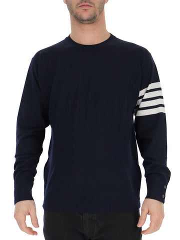 Thom Browne Striped Sleeve Merino Jumper
