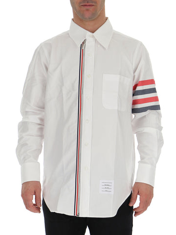 Thom Browne 4 Bar Zip-Up Shirt
