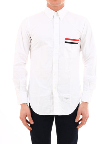 Thom Browne Pocket-Trim Oxford Shirt