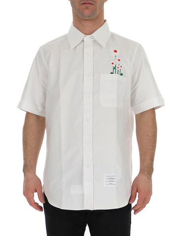 Thom Browne Embroidered Daisy Oxford Shirt