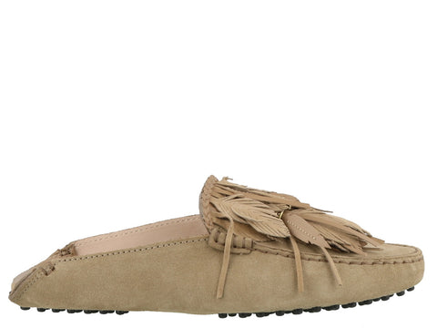 Tod's Feather Tassel Slip On Shoes