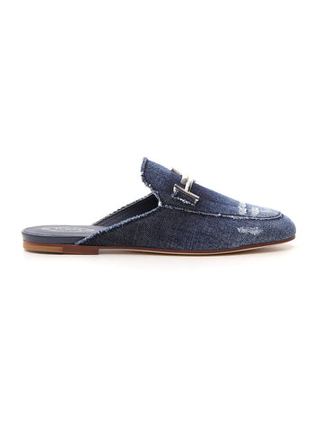 Tod's Double T Denim Mules