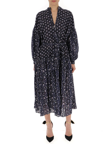 Ulla Johnson Mixed Print Midi Dress