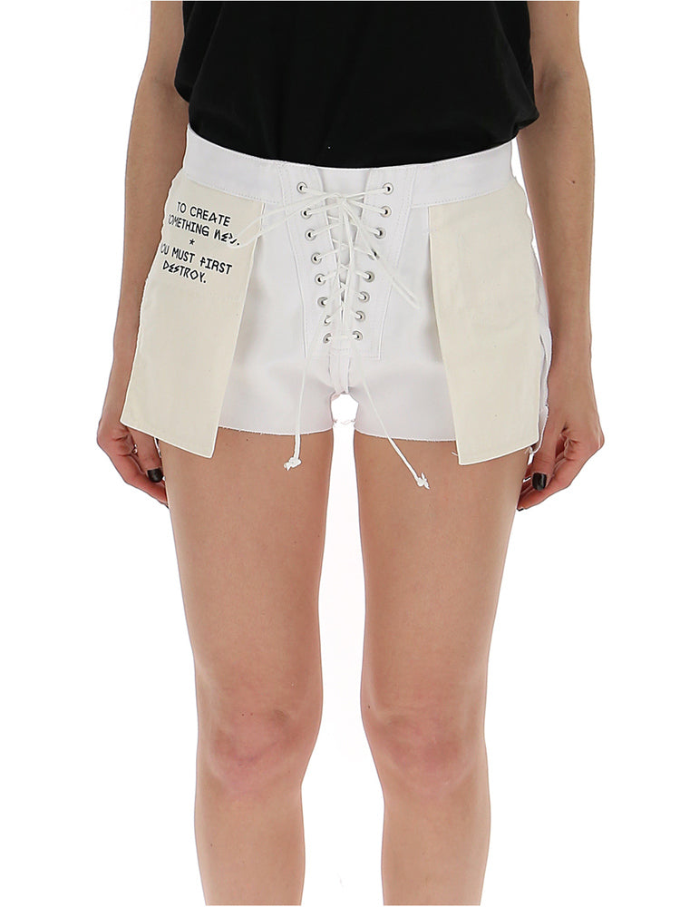 a61f669454 Unravel Project Lace-Up Inverted Denim Shorts – Cettire