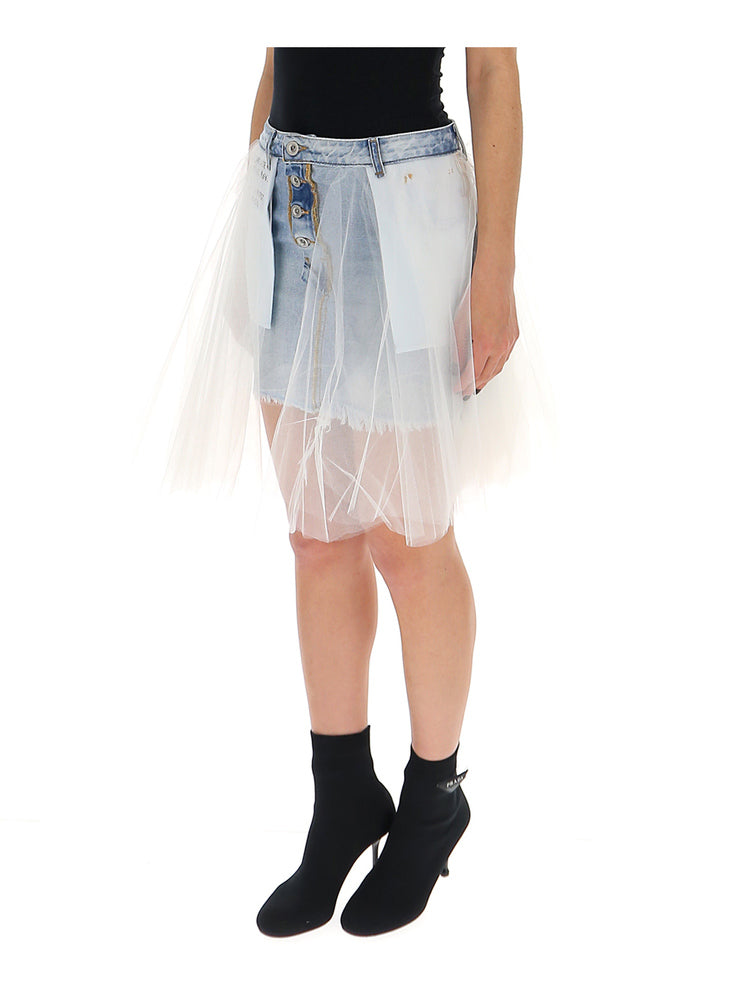 287fc7d0b Unravel Project Layered Trim Inverted Denim Skirt – Cettire