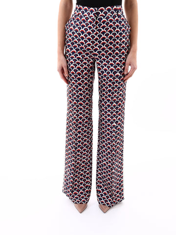 Valentino Printed Flared Trousers