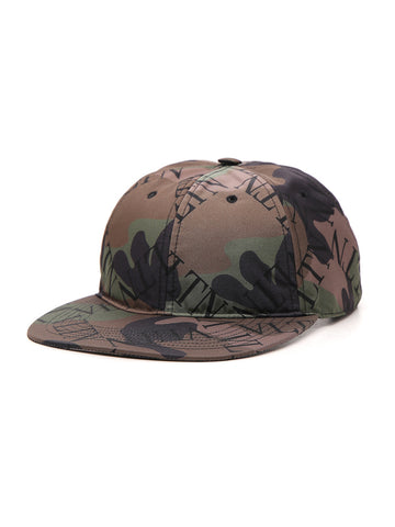 Valentino Camouflage Printed Hat