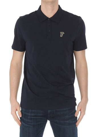 Versace Collection Embroidered Polo Shirt